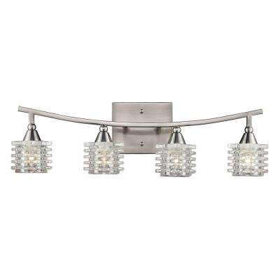 Matrix 4-Light Satin Nickel Bath Bar Light