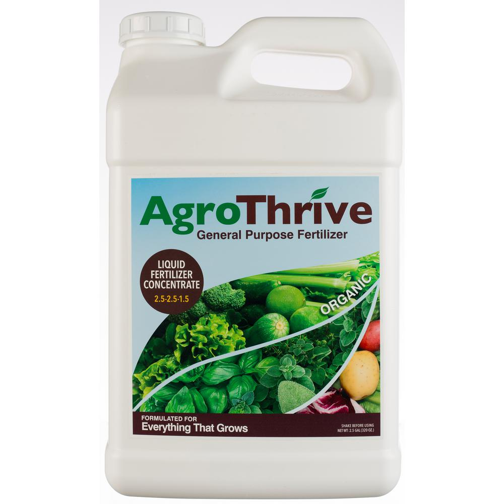 AgroThrive 2.5 Gal. General Purpose Organic Liquid Fertilizer