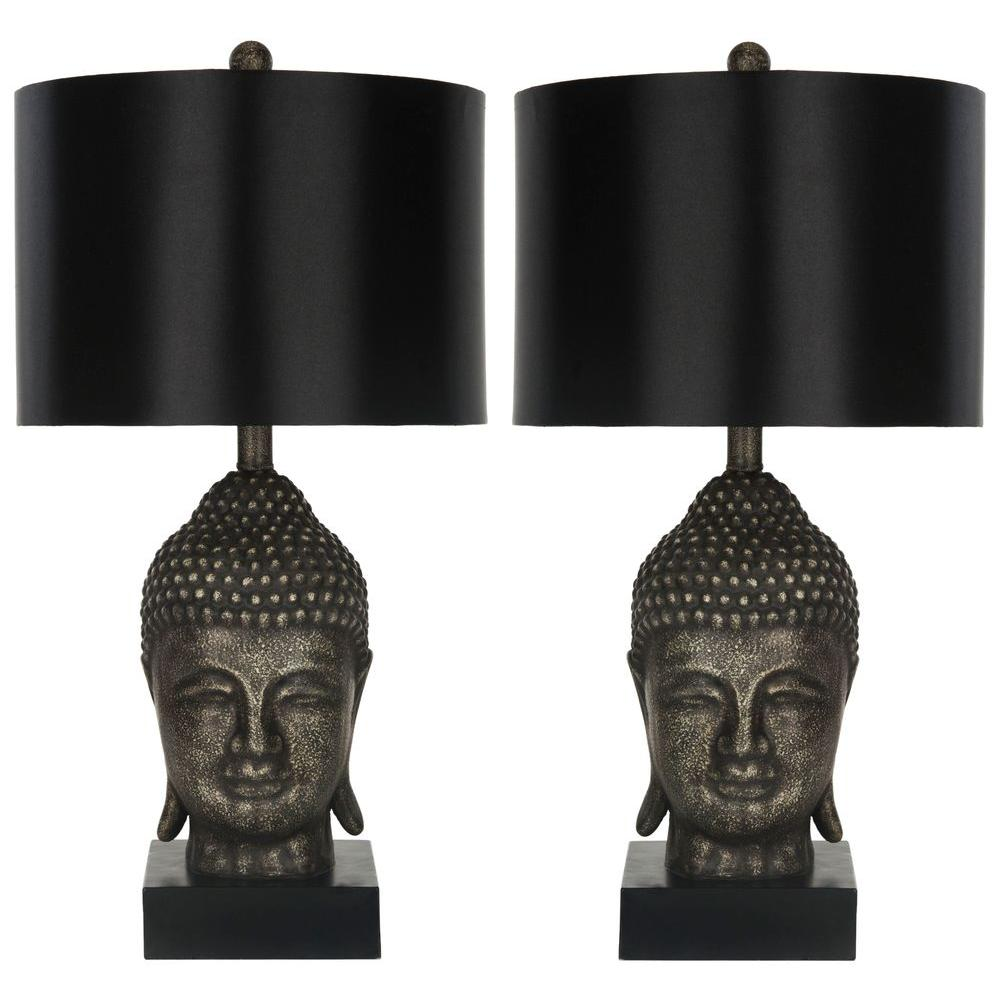 Safavieh 24.5 in. Gold Buddha Table Lamp (Set of 2)