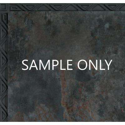 Take Home Sample - Blue Shale Resilient Vinyl Plank Flooring - 18.5 in. x 9.25 in.