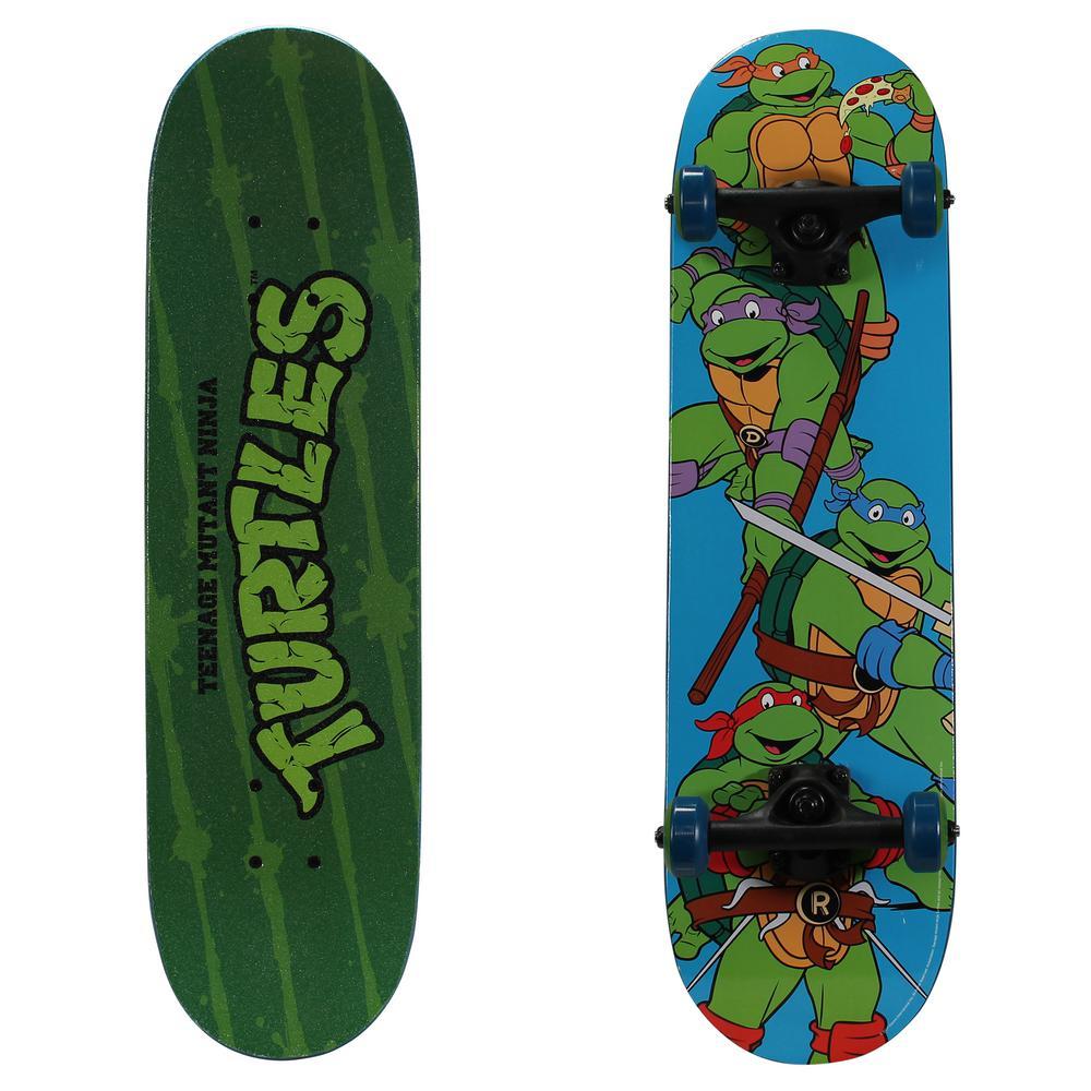 28 in. Teenage Mutant Ninja Turtles Complete Skateboard in Turtle Time Graphic