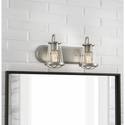 Georgina 2-Light Brushed Nickel Vanity Light