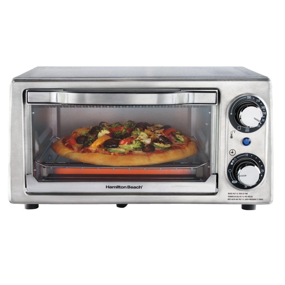Hamilton Beach Stainless Toaster Oven The Home Depot