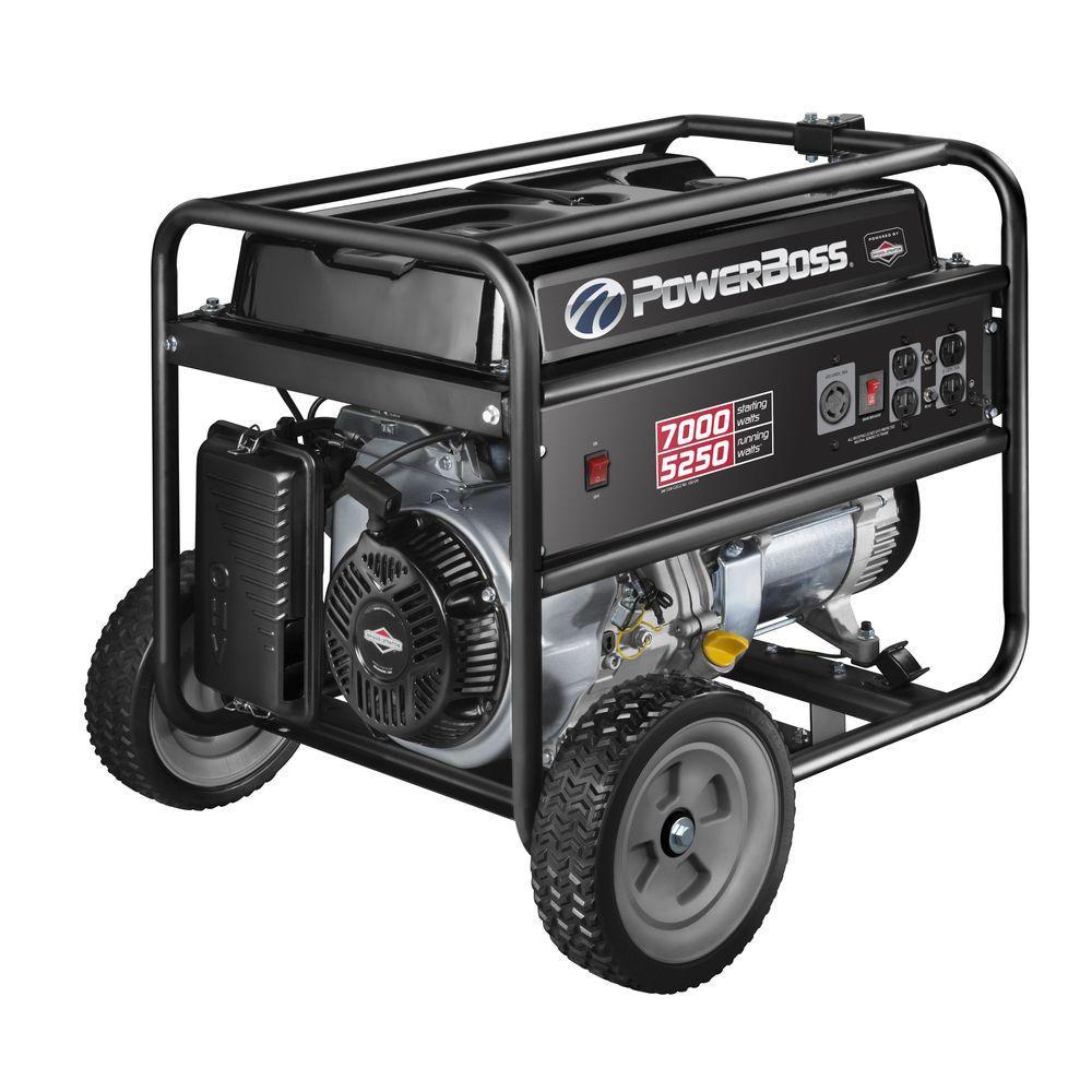 powerboss 5 250 watt gasoline powered recoil start portable rh homedepot com generac powerboss 5500 storm plus manual generac powerboss 5500 storm plus manual