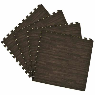 Charcoal 24 in. x 24 in. Interlocking Foam Anti Fatigue Tiles (16 sq. ft./case)