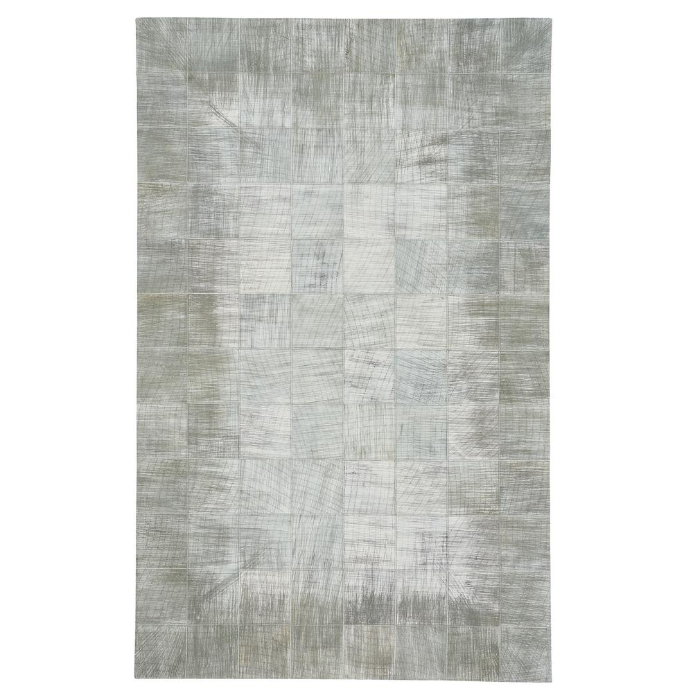 Capel Butte Brushed Blocks Silver 5 ft. x 8 ft. Area Rug Capel Butte Brushed Blocks Silver 5 ft. x 8 ft. Area Rug