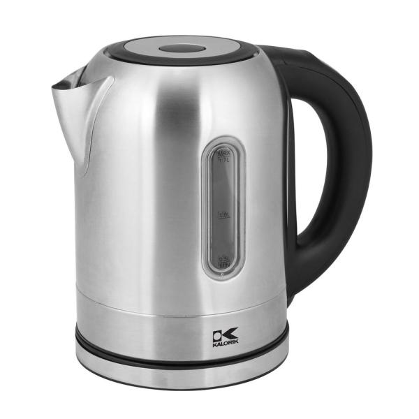 KALORIK 7-Cup Stainless Steel Electric Kettle with Temperature Control JK 45020