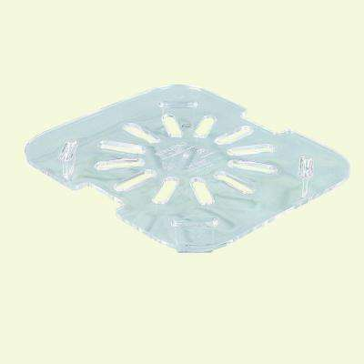 4.75 in. x 4.25 in. Polycarbonate Drain Shelf for Sixth Sized Food Pan in Clear (Case of 6)