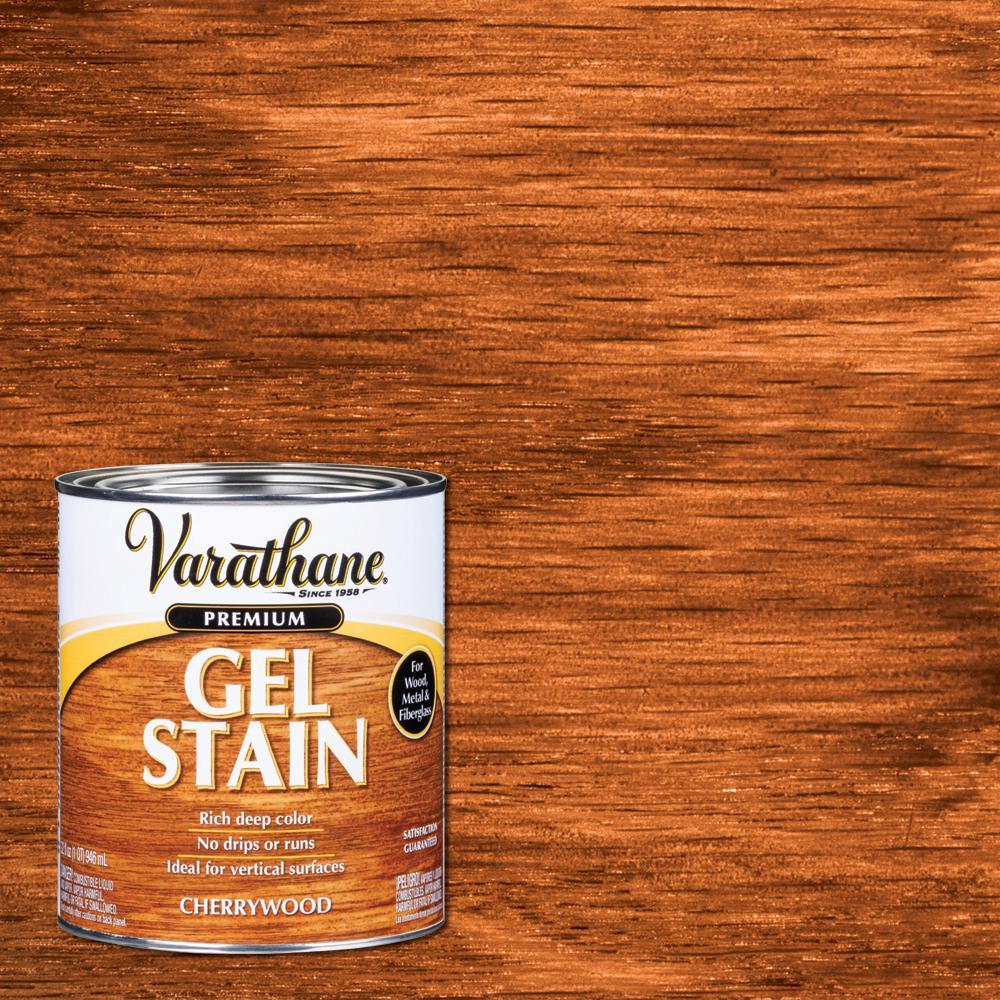 Varathane 1-qt. Cherrywood Wood Interior Gel Stain-339586 ...