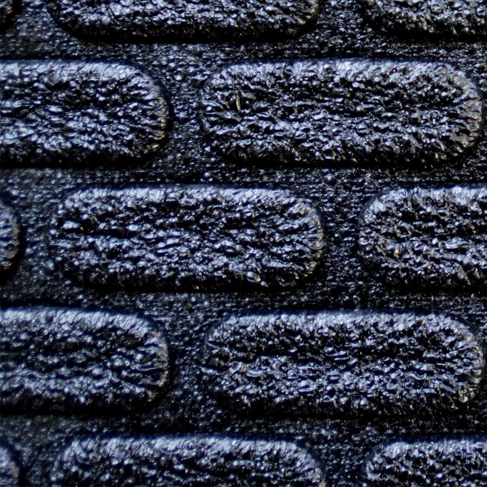 Carpet Cushion Sample - 7/16 in. Thick Waterproof Premium Plus Carpet Cushion - Color Black 8 in. x 8 in.