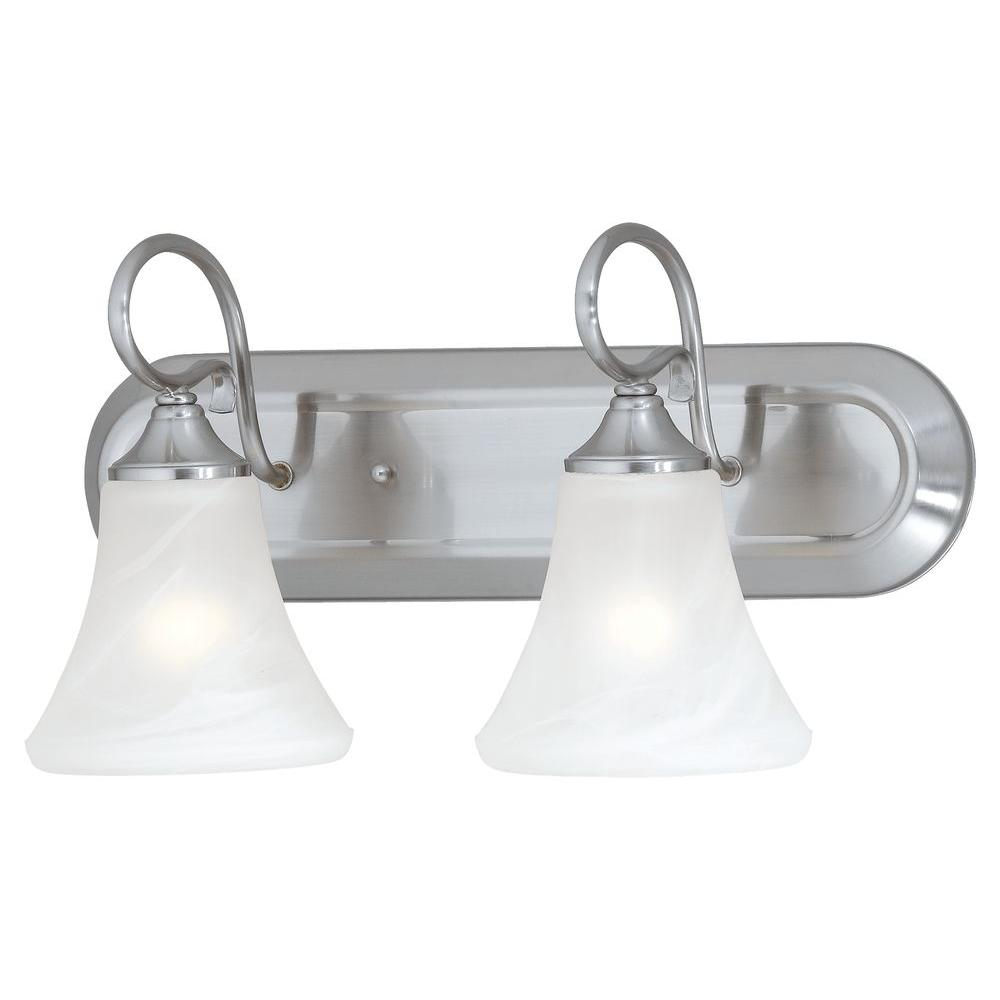 Elipse 2-Light Brushed Nickel Wall Vanity Light