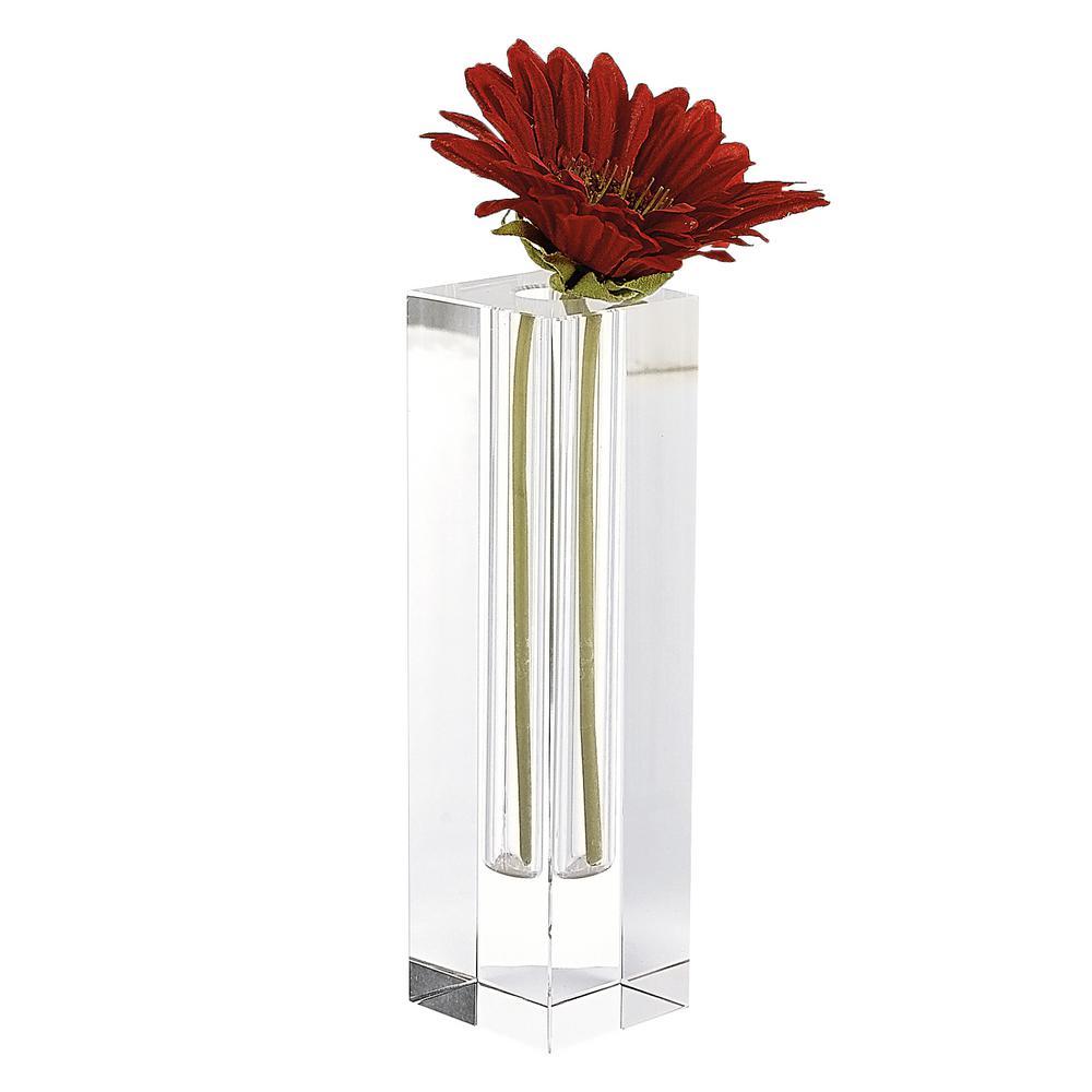 Donovan 9 in. Optical Crystal Bud Vase