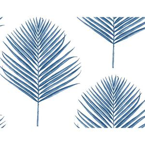 Luxe Haven Coastal Blue Maui Palm Peel and Stick Wallpaper (Covers 40.5 sq. ft.)