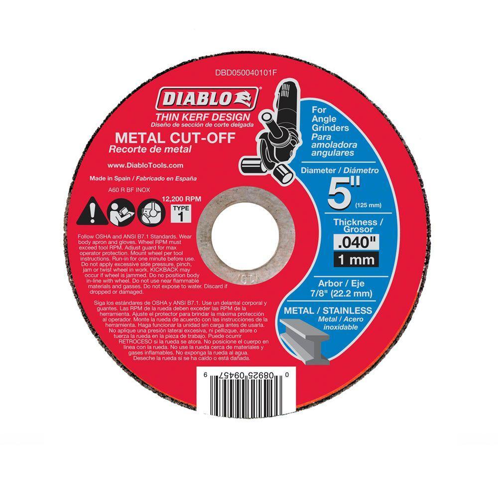 Diablo 5 in. x 0.040 in. x 7/8 in. Thin Kerf Metal Cut-Off Disc