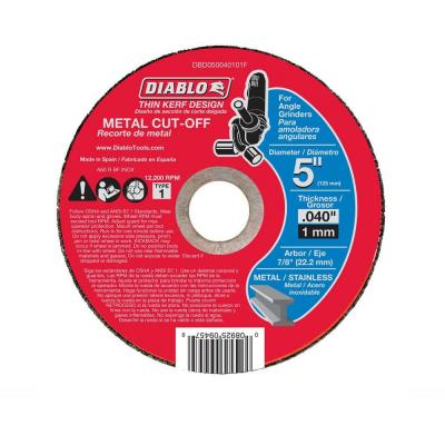 5 in. x 0.040 in. x 7/8 in. Thin Kerf Metal Cut-Off Disc