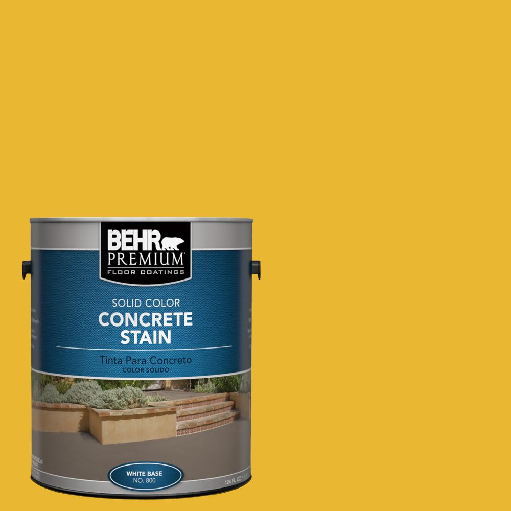198135809307f  OSHA-6 OSHA SAFETY YELLOW Solid Color Interior Exterior Concrete  Stain-83001 - The Home Depot