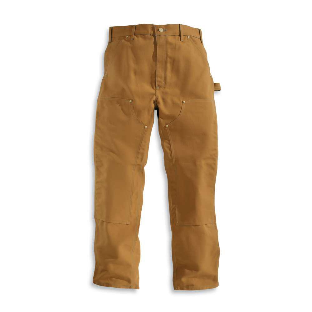 Men's 38x34 Carhartt Brown Cotton Straight Leg Non-Denim Bottoms