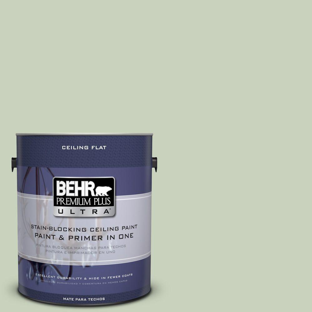 BEHR Premium Plus Ultra 1-gal. #PPU10-9 Ceiling Tinted to Chinese Jade Interior Paint