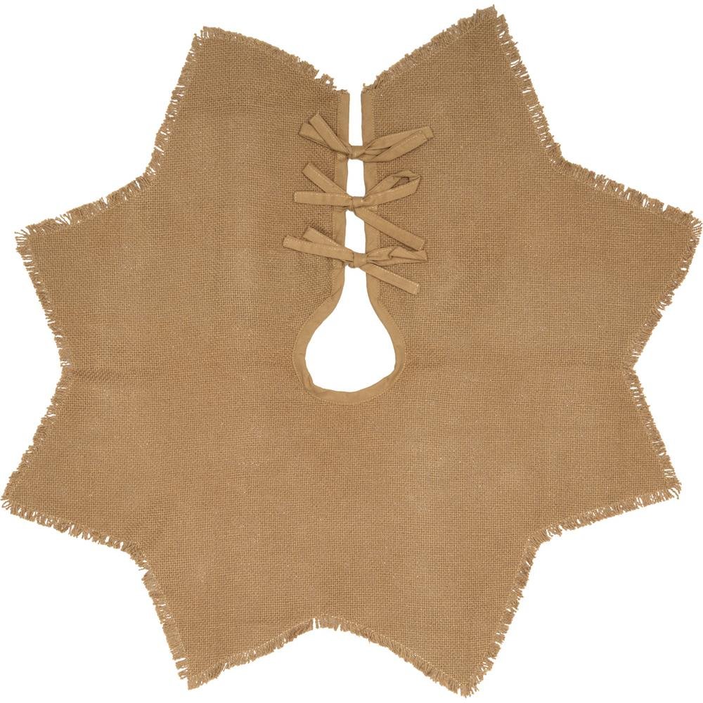 Burlap Natural Tan Farmhouse Christmas Decor Mini Tree Skirt