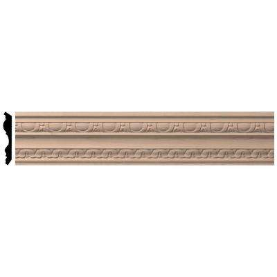 2-7/8 in. x 96 in. x 4 in. Unfinished Wood Alder Bedford Carved Crown Moulding