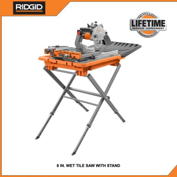 Ridgid 12 Amp Corded 8 In Tile Saw With Extended Rip R4041s The Home Depot