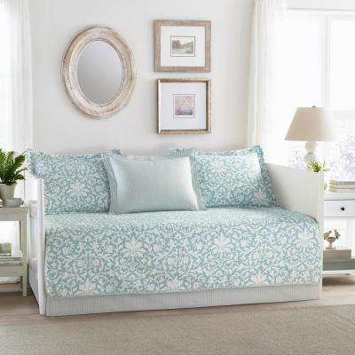 Mia 5-Piece Blue Daybed Set