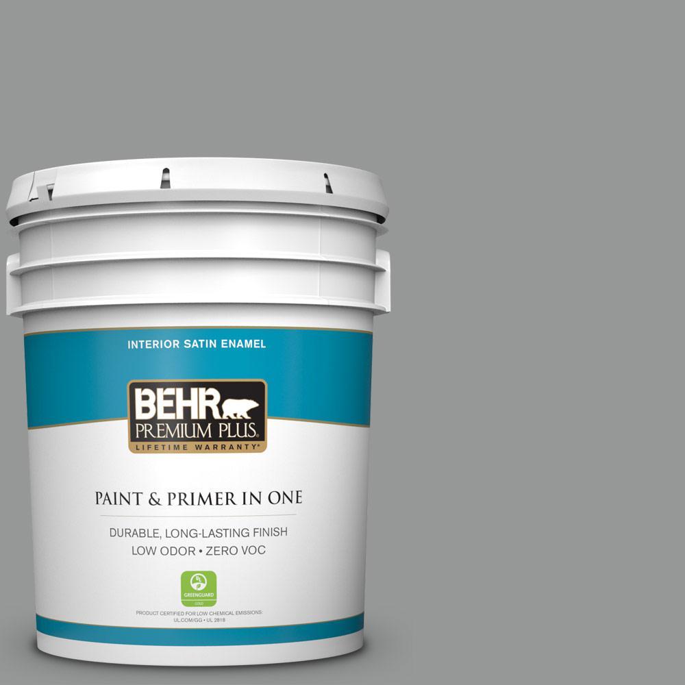 5 gal. #PPU24-19 Shark Fin Zero VOC Satin Enamel Interior Paint