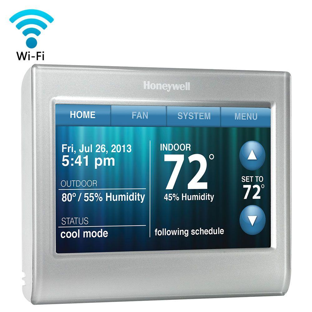 metallics honeywell programmable thermostats rth9580wf 64_1000 honeywell thermostats heating, venting & cooling the home depot wiring diagram honeywell thermostat rth8500d at n-0.co