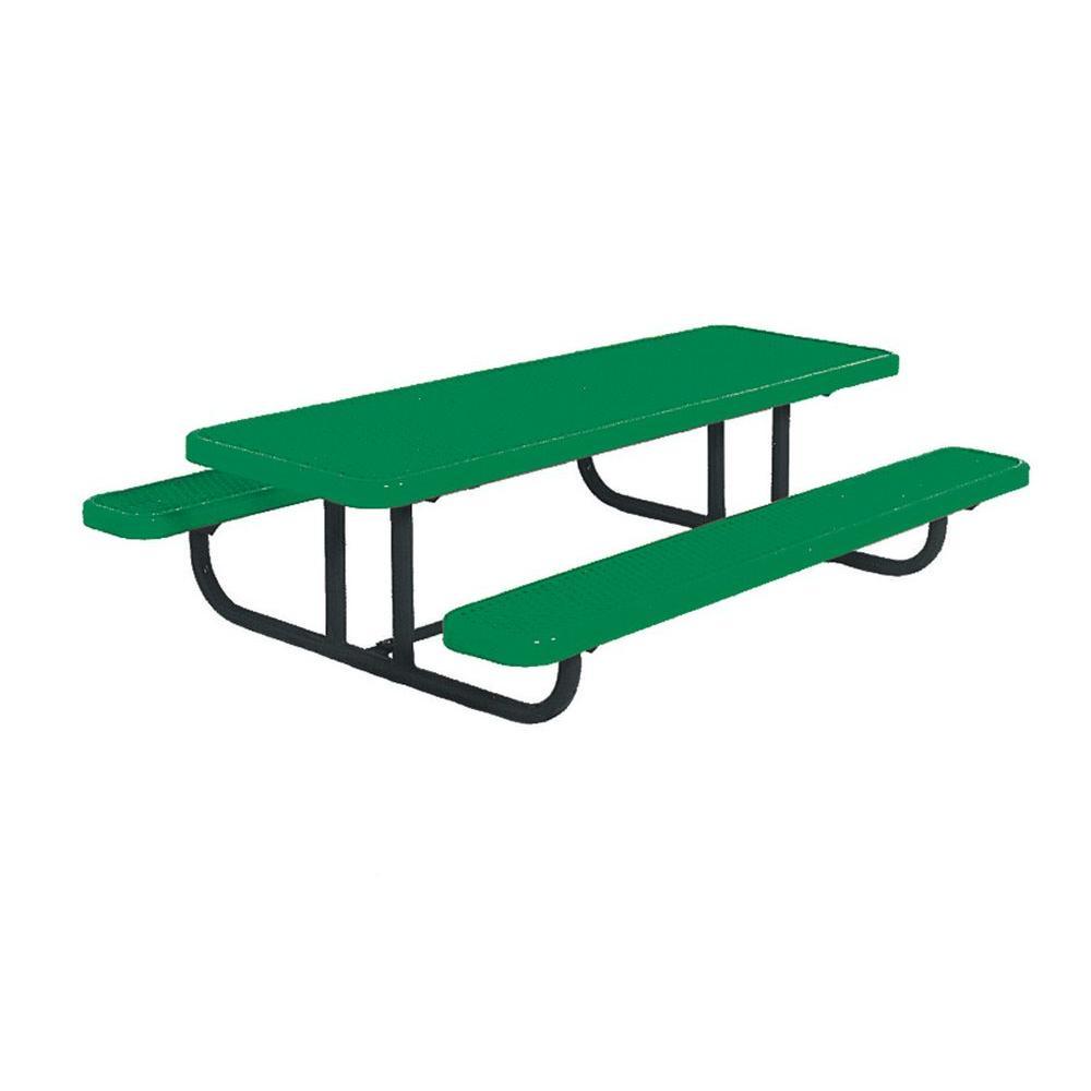 Ultra Play 8 ft. Diamond Green Commercial Park Preschool Portable Rectangular Table