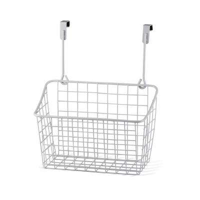 Grid 10.125 in. W x 6.625 in. D x 11.25 in. H Over the Cabinet Medium Basket in White