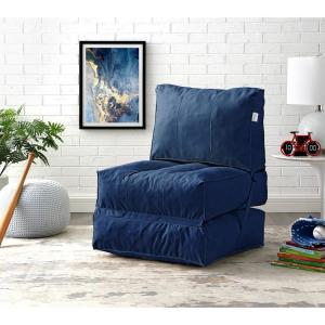 Prime Loungie Cloudy Blue Bean Bag Lounger Chair Convertible Nylon Andrewgaddart Wooden Chair Designs For Living Room Andrewgaddartcom