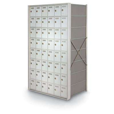 48-Door Rear-Loading Private Horizontal Mailbox