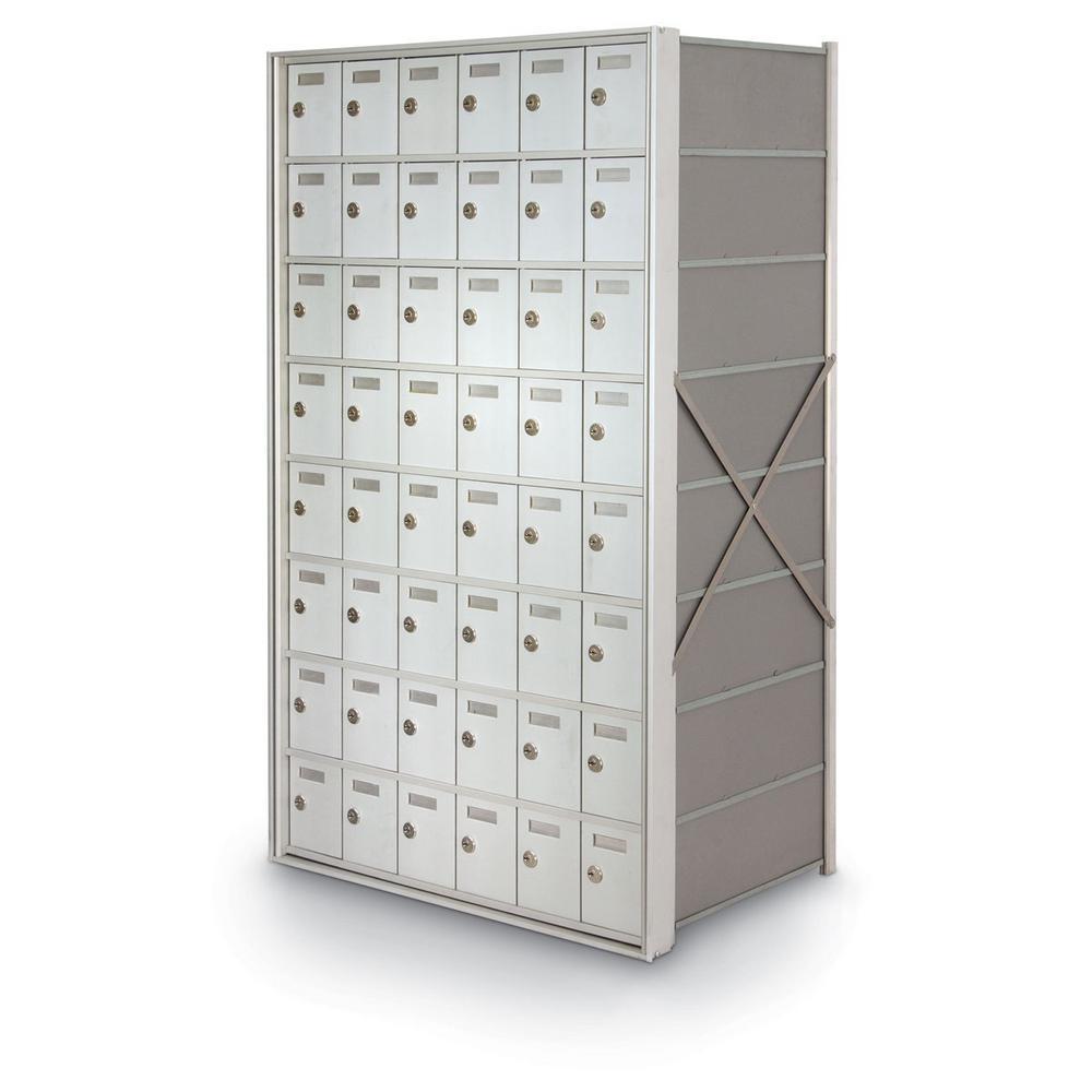 48-Door Rear-Loading Private Horizontal Mailbox