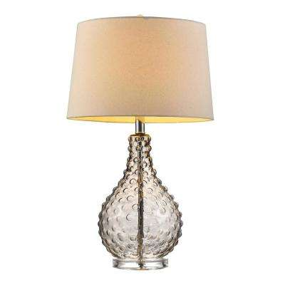 27 in. Castlerock Glass Table Lamp