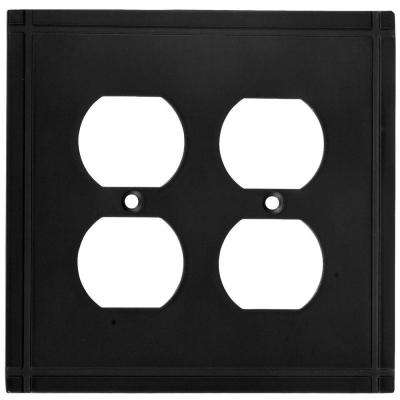 Ranch 2 Gang Wall Plate - Oil Rubbed Bronze