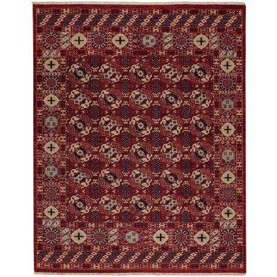 Biltmore Plantation Treasure Deep Red 9 ft. 6 in. x 13 ft. 6 in. Area Rug