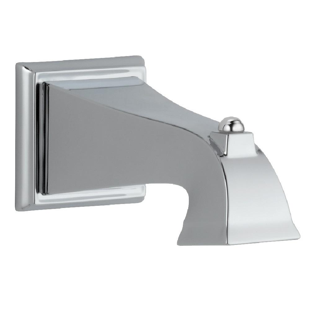 Dryden 7-1/2 in. Non-Metallic Non-Diverter Tub Spout in Chrome