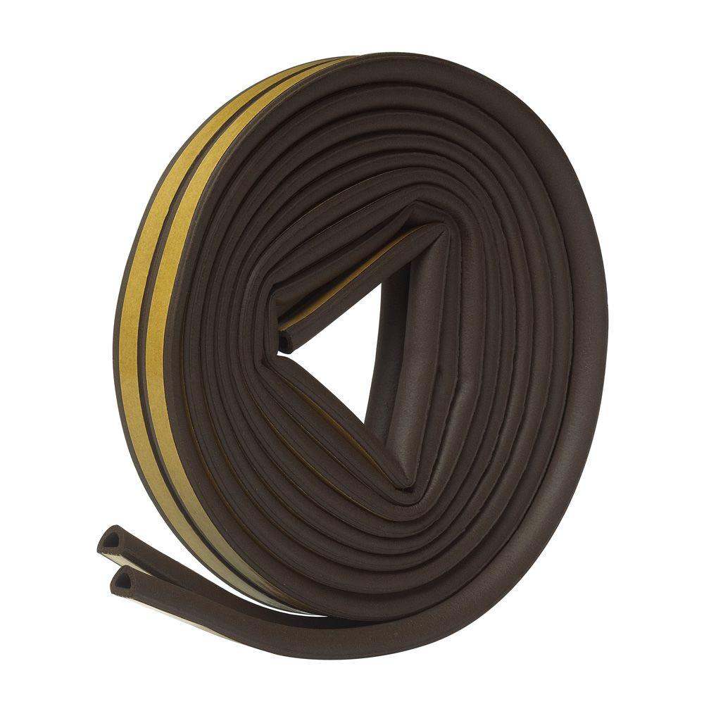 E/O 5/16 in. x 1/4 in. x 17 ft. Brown EPDM