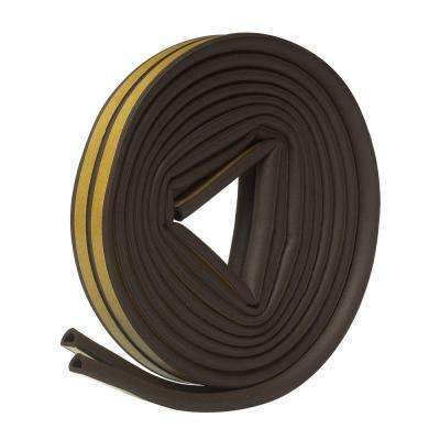 E/O 5/16 in. x 1/4 in. x 17 ft. Brown EPDM Cellular Rubber Weather-Strip Tape