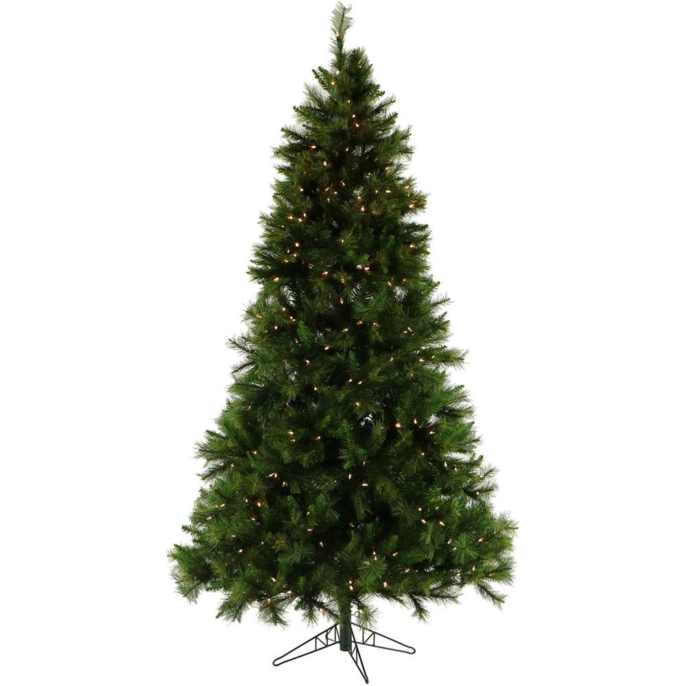 Christmas Time 6 5 Ft Pennsylvania Pine Artificial Tree With Clear Led String Lighting