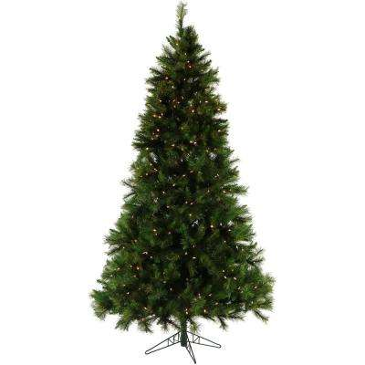 6.5 ft. Pennsylvania Pine Artificial Christmas Tree with Clear LED String Lighting