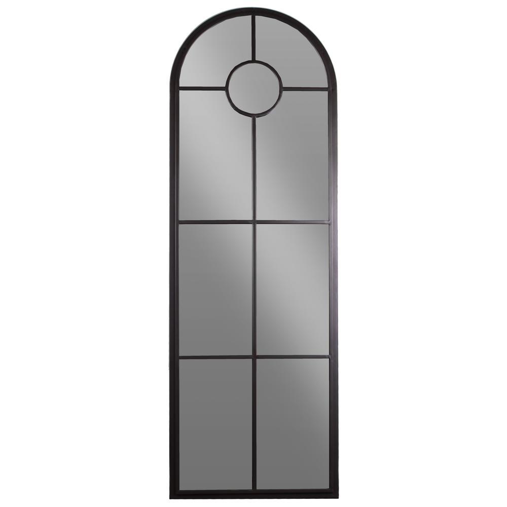 Specialty Black Metallic Pane Wall Mirror
