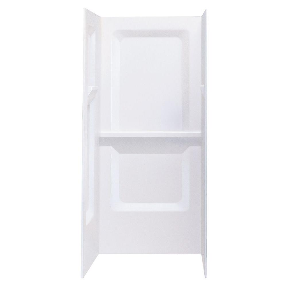 MUSTEE Durawall 32 in. x 32 in. x 73-1/4 in. 3-Piece Direct-to-Stud ...