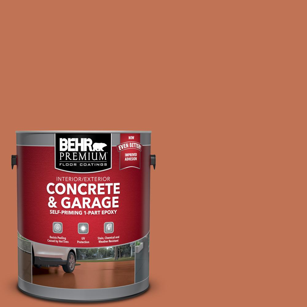 BEHR Premium 1 gal. #M200-6 Oxide Self-Priming 1-Part Epoxy Satin Interior/Exterior Concrete and Garage Floor Paint