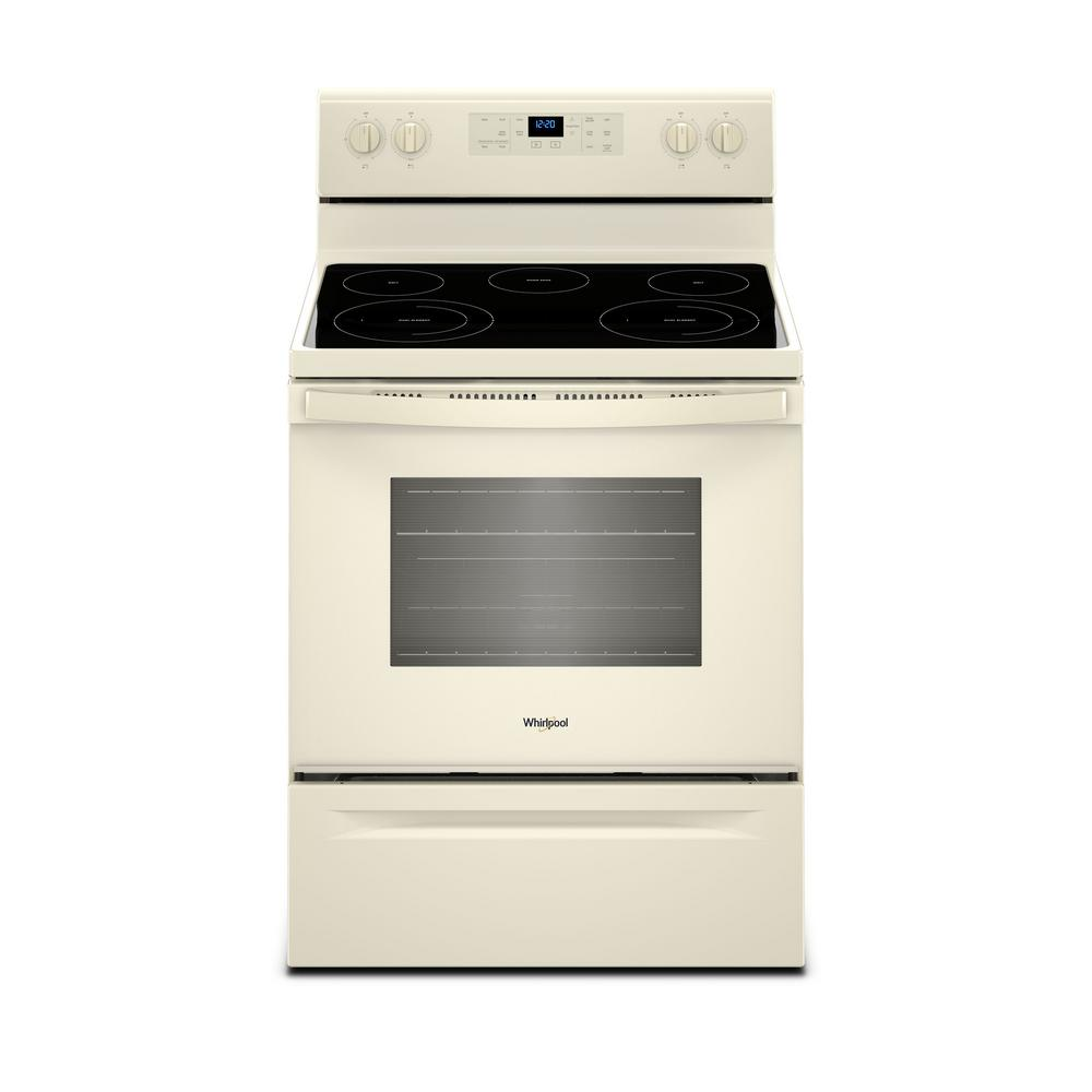 Whirlpool 5.3 cu. ft. Electric Range with Self-Cleaning Oven in Biscuit