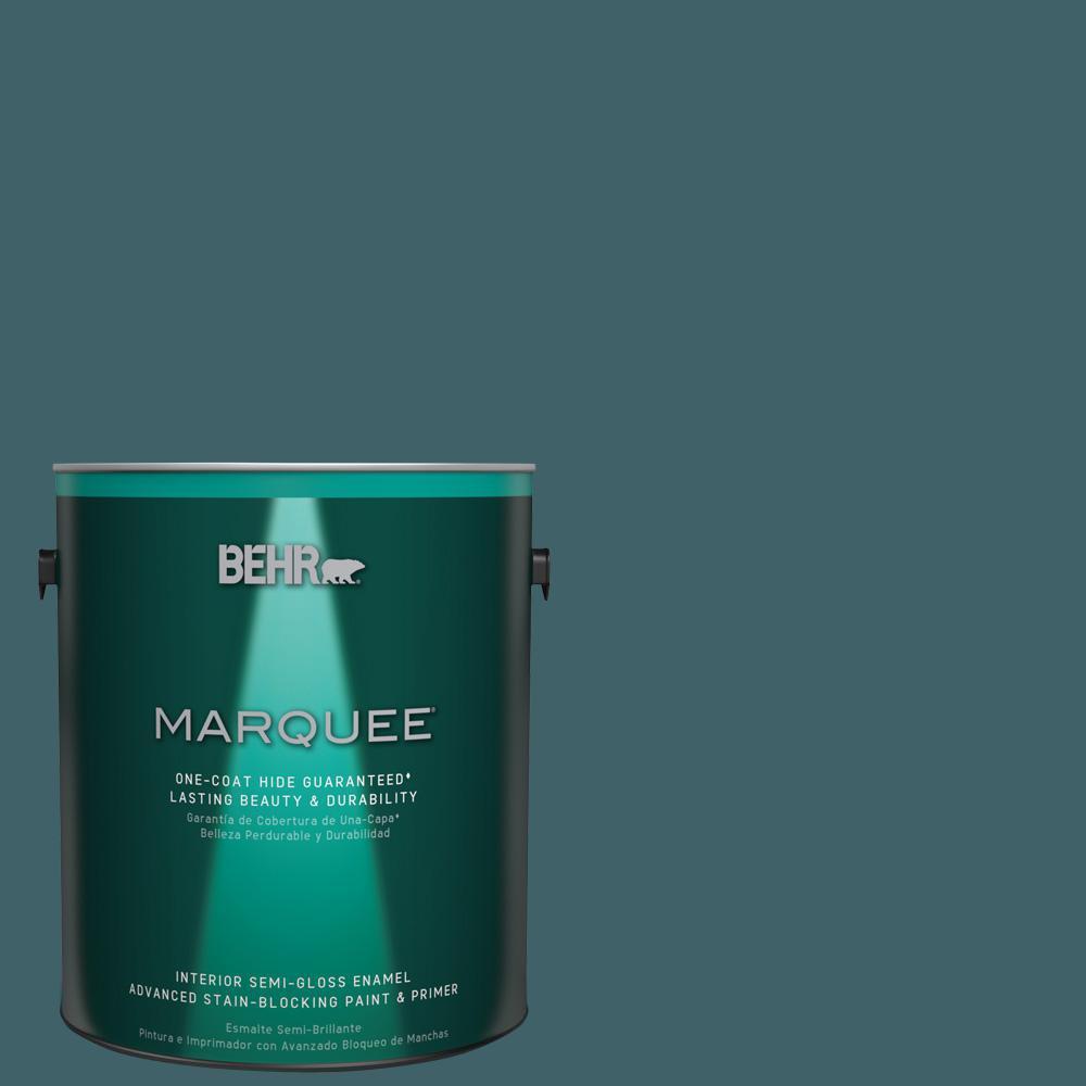 1 gal. #T17-12 Wanderlust Semi-Gloss Enamel Interior Paint