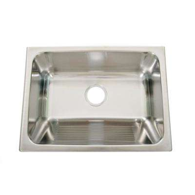 Lavendaria 24 in. x 18 in. x 10 in. Stainless Steel Laundry Sink