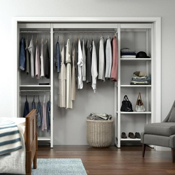 Closets By Liberty 91 In W White, Wardrobe Cabinet Home Depot