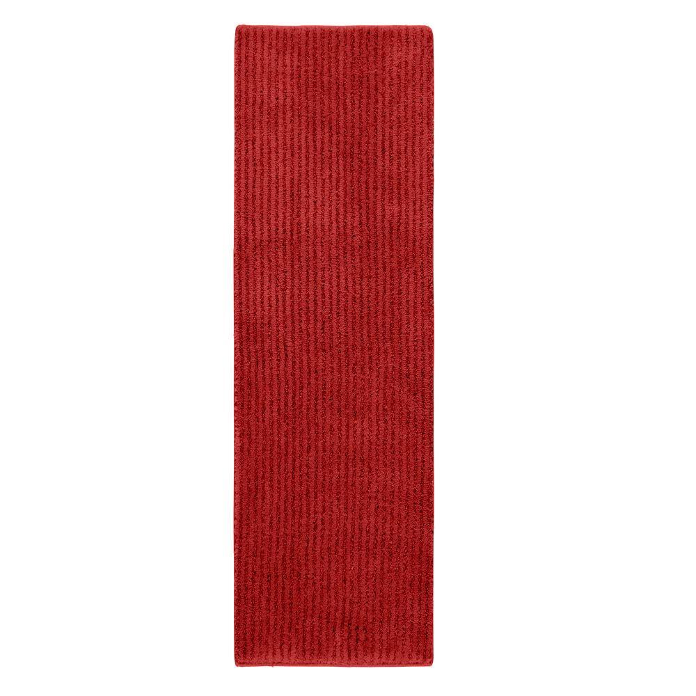 Sheridan Chili Pepper Red 22 in. x 60 in. Washable Bathroom