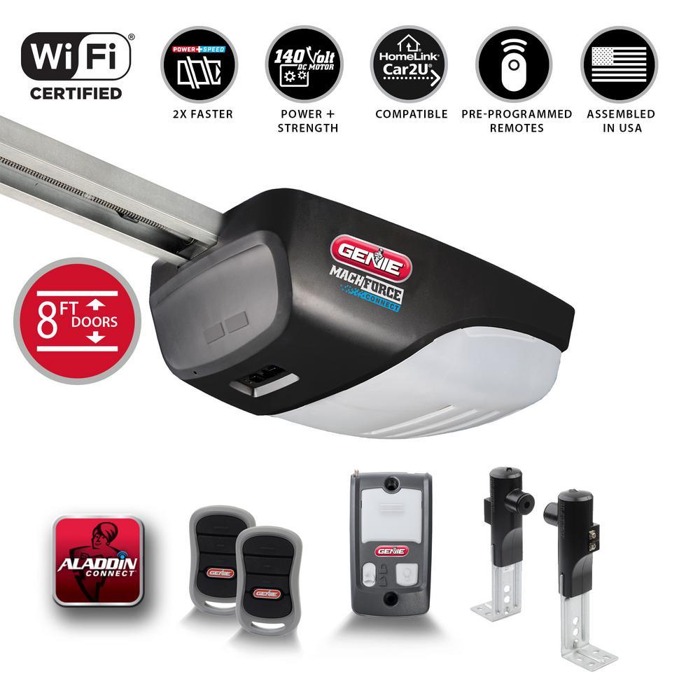 MachForce Connect XL 2 HP Premium Screw Drive Smart Garage Door Opener for 8 ft. High Doors